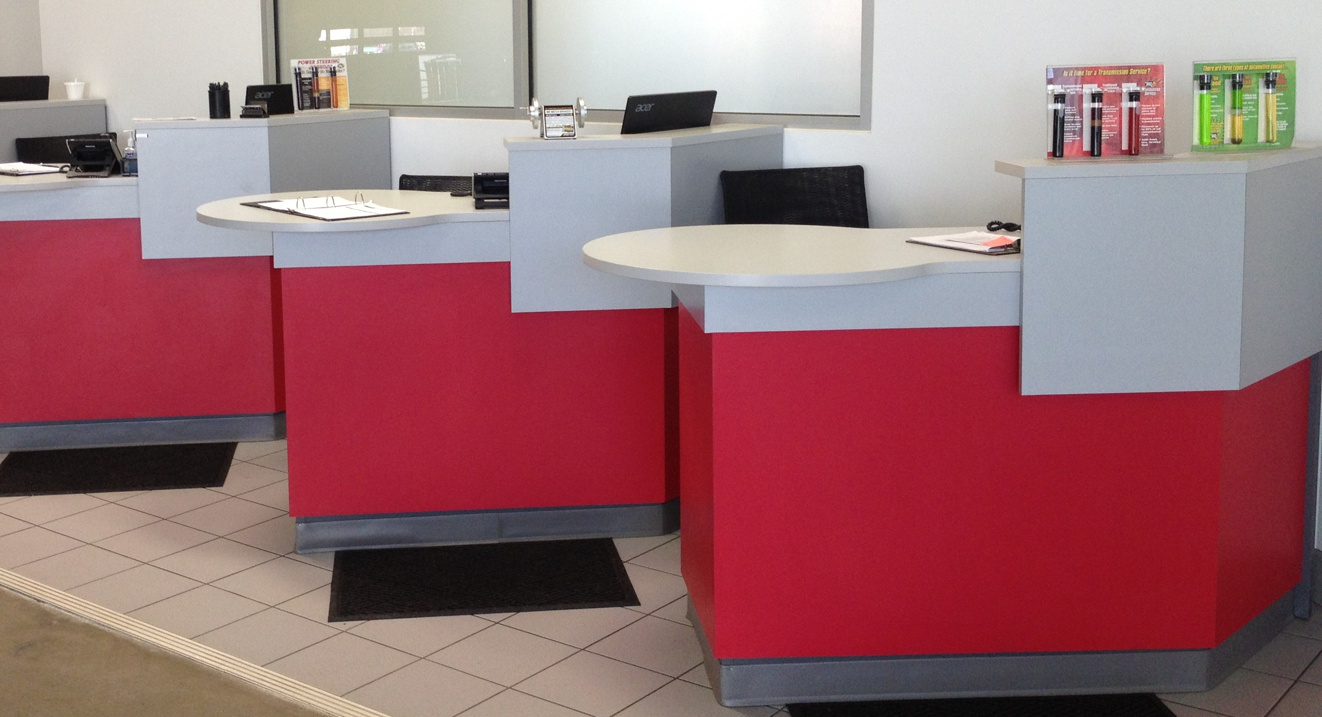 Service Writer Desk ~ Service advisor desks crest auto dealership furniture