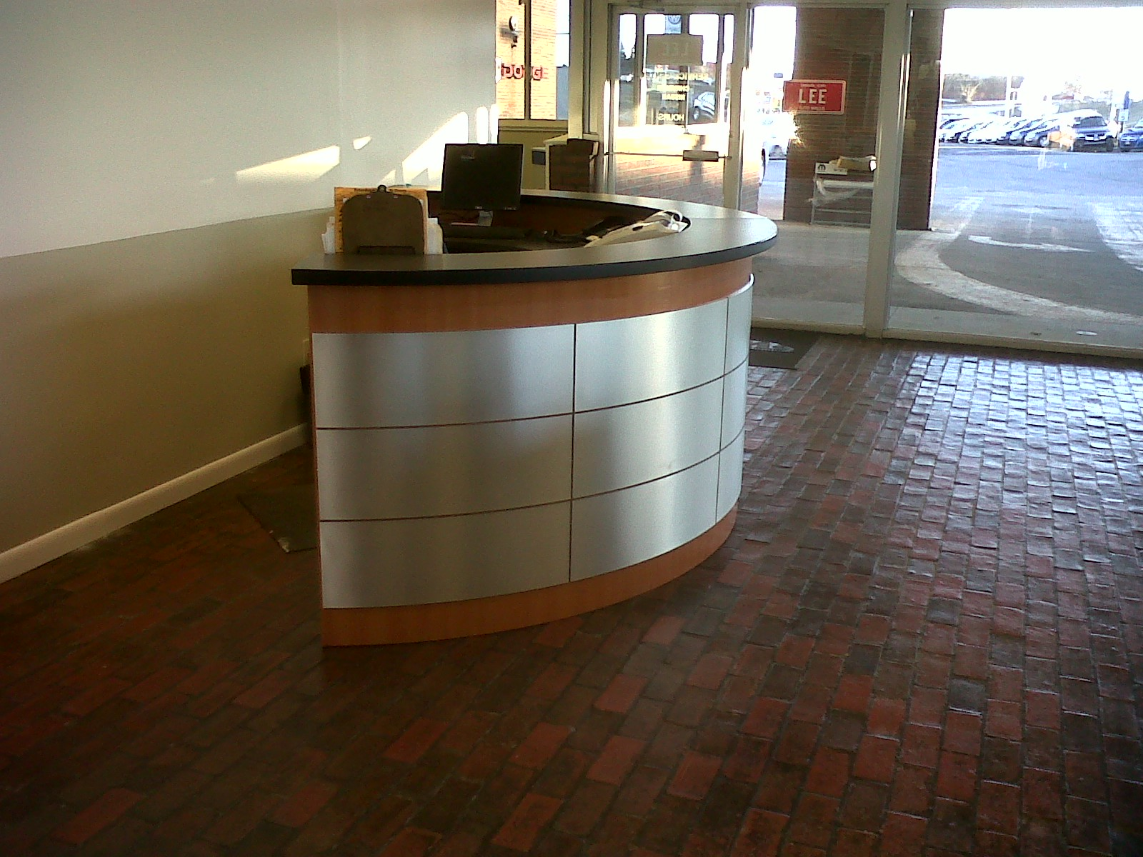 Side View Of Reception Desk